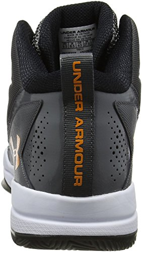 Under Armour UA Jet Mid, Chaussures de Basketball Homme Gris (Graphite 040)