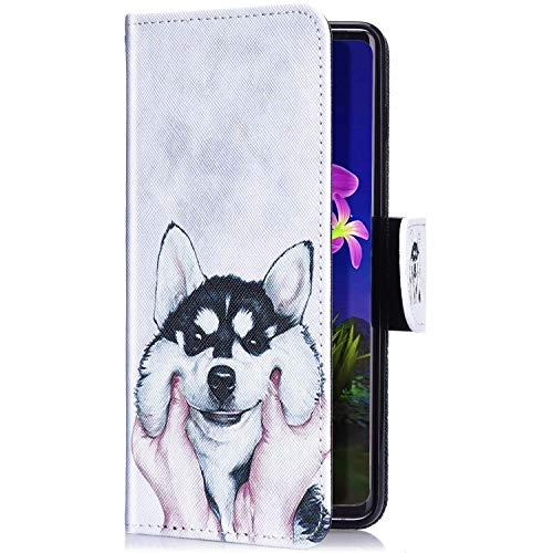 Uposao Kompatibel mit iPhone 11 Pro Handyhülle Leder Tasche Lederhülle Retro Bunt 3D Muster Schutzhülle Bookstyle Flip Case Wallet Cover Ständer Kartenfach Klapphülle,Hund