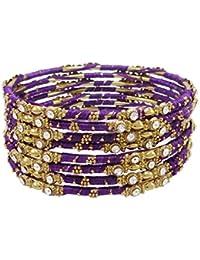 7a483977c062 Banithani Hilo dorado envuelto pulseras del brazalete indio Bisutería 2 ...