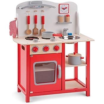 New Classic Toys - 11055 - Jeu D'imitation - Cuisine - Bon Appétit - Rouge