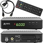 Anadol HD 200 Plus HD HDTV digitaler Satelliten-Receiver (HDTV, DVB-S2, HDMI, SCART, 2x USB 2.0, Full HD 1080p, Youtube) [vorprogrammiert] inkl. HDMI Kabel - schwarz