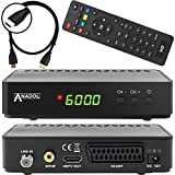 Anadol HD 200 Plus HD HDTV digitaler Satelliten-Receiver  [vorprogrammiert] inkl. HDMI Kabel - schwarz