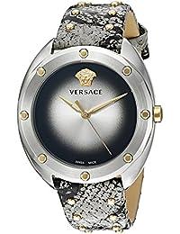 Versace VEBM00718 Montre à quartz analogique pour femme avec bracelet effet  peau de serpent