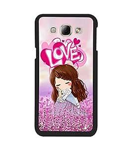 Fuson 2D Printed Love Girl Designer back case cover for Samsung Galaxy A8 - D4149