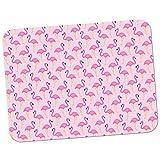 Flamingo-Chaos - pinkes Design Hochwertiges dickes Gummi-Mauspad mit weicher Komfort-Oberfläche