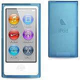 iGloo Slim Clear Gel Cover Case Skin Fits The Apple iPod Nano 7th Generation - Blue