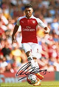 Alex-Oxlade Chamberlain véritable main signé autographe AFTAL UACC RD