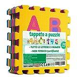 SELEZIONE100 Tappeto Bambini Lettere E Numeri. Tappeti Puzzle Gomma EVA 32x32
