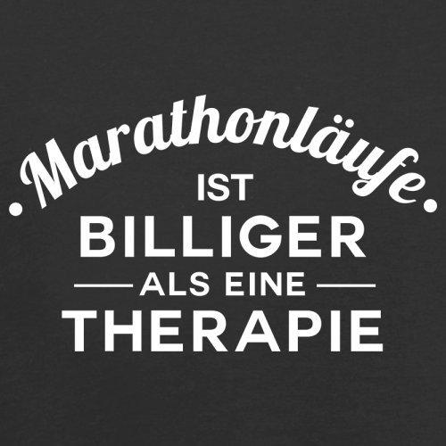 Marathonlaufe ist billiger als eine Therapie - Herren T-Shirt - 13 Farben Schwarz