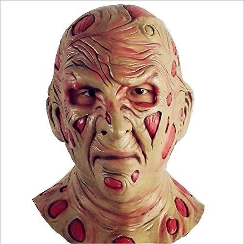 Krueger Kostüm Zubehör Freddy - VAWAA Set Freddy Krueger Latex Maske Handschuhe Kostüme Erwachsene Party Kostüm Freitag Der 13. Killer Jason Zubehör Horror Filme Beängstigend
