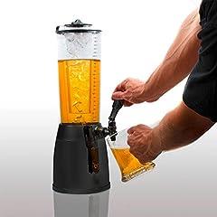 Idea Regalo - Goods & Gadgets - Erogatore di birra con spina, 4 l, con colonna refrigerante da 1,3 l