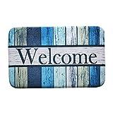 Decdeal Carpet Doormat Mat Bath Rug Welcome Print Non-Slip Doormat Welcome Floor Mats Carpet