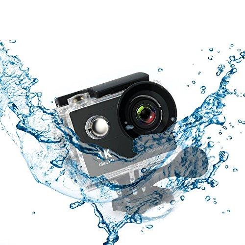 Expresstech @ 4K Action Kamera Unterwasserkamera Wasserdichte Tauch Cam DV Camcorder Full HD 1080P WiFi Action-Kamera Sport Action Camera Cam Wasserdicht 170 ° Weitwinkel mit Fernbedienung und Zubehör Kits für Tauchen Fahrrad fahren Motorrad fahren Outdoor-Aktivitäten Schwimmen Driften Surfen - 6