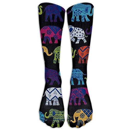 Gorgeous Socks Calcetines de compresión graduados de rodilla de elefantes negros para...