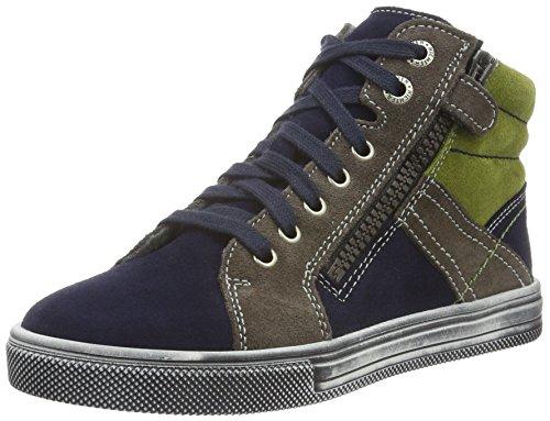 Richter Kinderschuhe Jungen Ola Hohe Sneakers Blau (atlantic/pebble/cactus 7201)