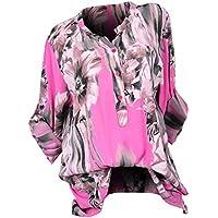 Geili Damen Damen T Shirt, Frauen Blumendrucken Langarm T Shirt V-Ausschnitt Tasten Große Größe Pullover Bluse... preisvergleich bei billige-tabletten.eu