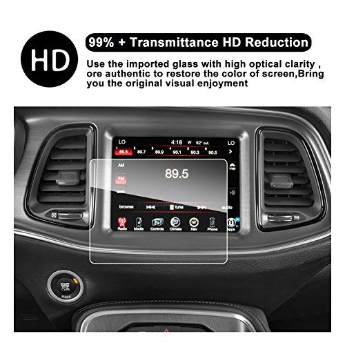 2011-2018 Dodge Charger uconnect Touch Screen Auto Display Navigation Displayschutzfolie, ruiya HD Klare Schutzfolie Sekuritglas Auto-INDASH Display (8.4 in)