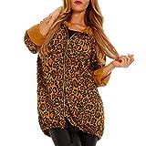 Damen Jacke mit Leopard Muster (Gelb)