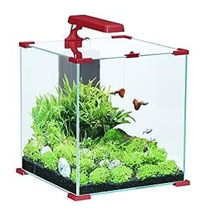 Aquarium complet NanoLife Cube Rouge Zolux 50 litres