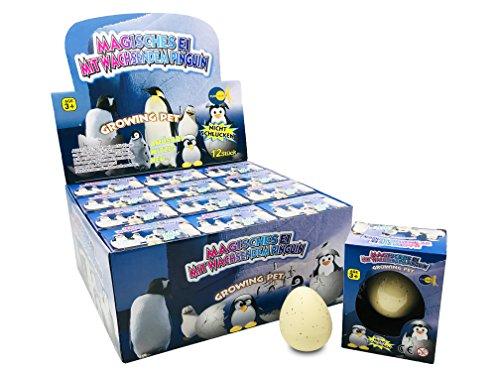 JustRean Toys Magisches Pinguin Schlüpf Ei - magic growing egg - Pinguinei Schlüpfei (Ei Magic)