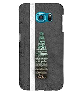 PRINTSWAG TYPOGRAPHY Designer Back Cover Case for SAMSUNG GALAXY S6 EDGE