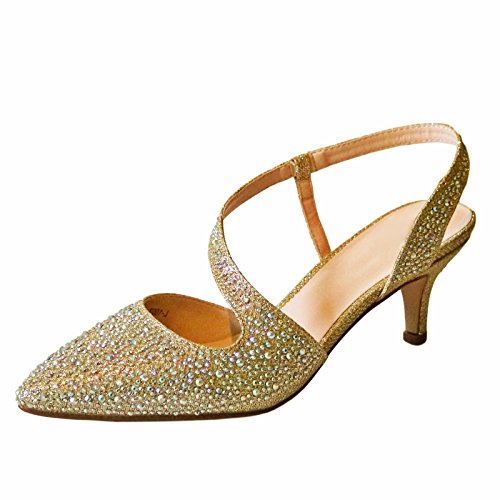 Rock on Styles NEW Ladies Gold Silver Party Prom Bridal Sparkly Diamante...