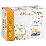 Multi Enzym Forte mit Digezyme, einzigartiger Multienzymkomplex mit Verdauungsenzymen Amylase, Protease, Lactase, Lipase und Cellulase, bei leichter Laktoseunverträglichkeit, 60 Kapseln (Monatspack)