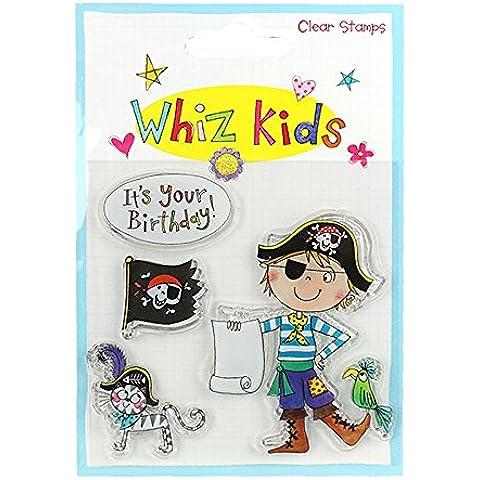 Whiz bambini, motivo: pirati, Timbro trasparente in
