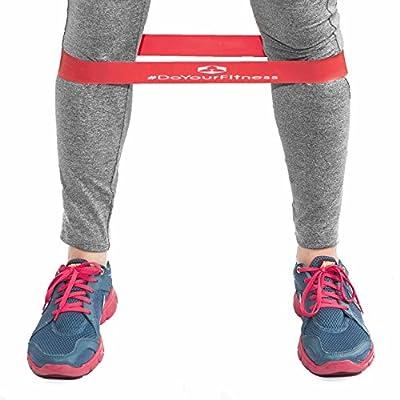 4er-Set Fitnessbändern inklusive Tragetasche »Hector« - Gymnastikbänder / Loops für Yoga, Pilates, Reha-Sport Physio-Gymnastik - Für Männer & Frauen - Hergestellt aus natürlichem Latex - geschlossene Sportbänder mit ca. 60cm Umfang & 5cm Breite.