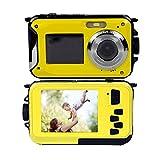Stoga Digitalkamera CGT001 Doppelbildschirme Wasserdichtes Digital-Videokamera 2.7-Zoll-Front LCD mit 2,7-Zoll-Kamera Einfache Selbstschuss Kamera-Gelb