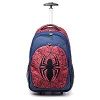 Spiderman Marvel Comics Ultimate Spider-Man Logo Trolley Backpack, Unisex, Blue (Bp00171Spn) Casual Daypack, 56 cm, Red