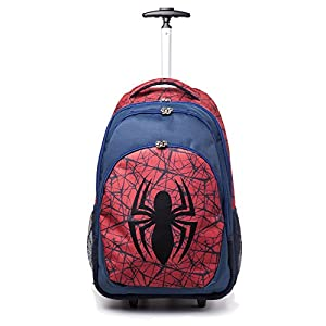 51WVMR6d0cL. SS300  - Spiderman Marvel Comics Ultimate Spider-Man Logo Trolley Backpack, Unisex, Red/Blue (Bp00171Spn) Mochila Tipo Casual 56 Centimeters Rojo (Red)