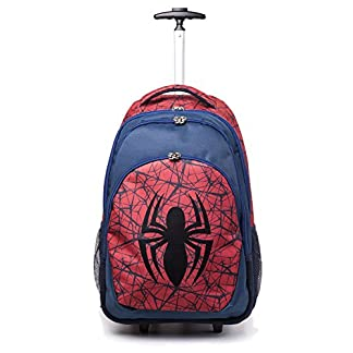 51WVMR6d0cL. SS324  - Spiderman Marvel Comics Ultimate Spider-Man Logo Trolley Backpack, Unisex, Red/Blue (Bp00171Spn) Mochila Tipo Casual 56 Centimeters Rojo (Red)