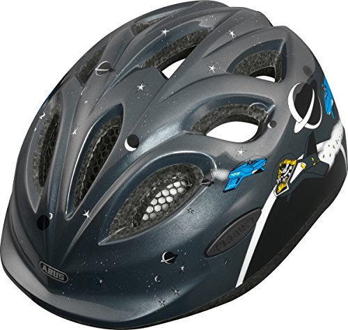 Abus Unisex - Kinder Fahrradhelm Smiley, space police, 50-55 cm, 39552-9