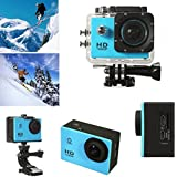 MSE Full HD 1080p Waterproof Sports 2 inch DVR H.264 12 Mega Underwater 30M, 120 Degrees Wide-Angle Lens camera (Blue)