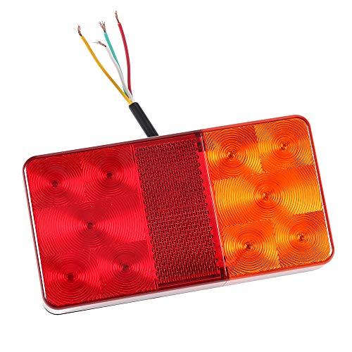 AOHEWEI Anhänger Rückleuchten LED Bremsleuchte Für Lkw Beleuchtung Set Heck Stoppen Blinklicht 12v Universal Wasserdicht Perfekt Für Anhänger Wohnwagen Lkw Oder Tractor (10 led chips- A) -
