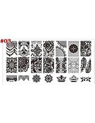 Coscelia 1 pcs DIY Plaque Nail Art Stamping Image Modèle d'impression Nail Art #3