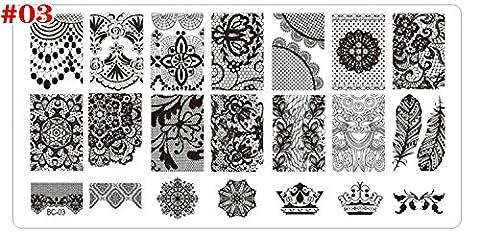 Plaque Nail Art Ongle - Coscelia 1 pcs DIY Plaque Nail Art
