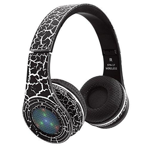 RimeU Cuffie Bluetooth Over-Ear Cuffie stereo Hi-Fi wireless Riduzione del  rumore Cuffie 9adf2de4e6de