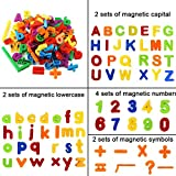 LAISHOW 160PCS Magnetic Letters & Numbers ABC Learning Toys Alphabet Magnets for Kids Preschool Learning Speclling & Counting
