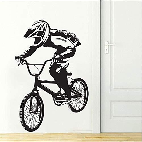 BMX Vélo Biker Garçons Sports Extrême Sticker Vinyle Décorations Pour Enfants Chambre Stickers Muraux Pour Chambre de Garçon Beaucoup De Couleurs À Choisir 58x90 cm