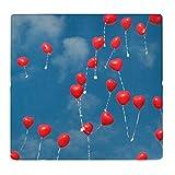 sitzZ style Sitzkissen Herz Ballons, Made in Germany, faltbar, klappbar für Ausflug, Boden, Camping, Outdoor, Wiese, Strand, 33*29,5*3,3cm. Wasserabweisend, dick gepolstert, bequem, warm, robust.