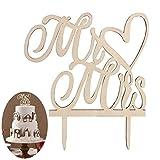 Bestomz Mr Mrs in legno cake topper party decorazione torte bomboniere matrimonio
