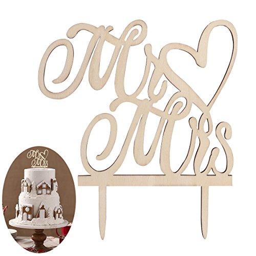 Hochzeit Kuchen Topper Cake Topper Kuchendekoration (Holz Farbe) (Dekorationen Für Die Hochzeit Dusche)