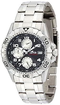Lotus hombre reloj de pulsera analógico cuarzo acero inoxidable 15301/9 de Lotus