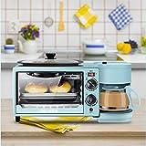 DANYCU Máquina de Desayuno para el hogar, Mini Horno automático de Pan Tres en uno, Cocina Americana de café, función de cocción múltiple y Parrilla, Control de Temperatura Ajustable