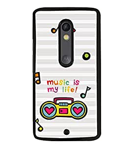 Music is My Life Back Case Cover for MOTOROLA MOTO X STYLE