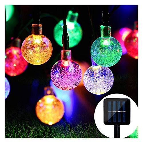 Solar Lichterkette, Mr.Twinklelight 4.5M 30er LED Lichterkette Außen Kristall Kugeln Garten Licht für Garten, Terrasse, Zuhause, Weihnachtsdeko und Partys (Mehrfarbig)