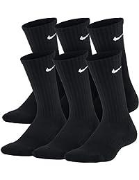 Nike - Calcetines para niños (6 Pares) - SX6910, Medium, Negro/