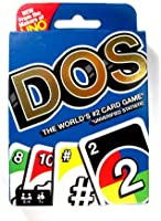 UNO DOS Playing Card Game for Kids and Adults - Double the Play, for 2 - 4 Players (Uno, DOS)